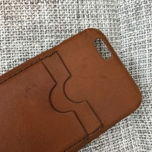 Madewell leather phone case 6/6s